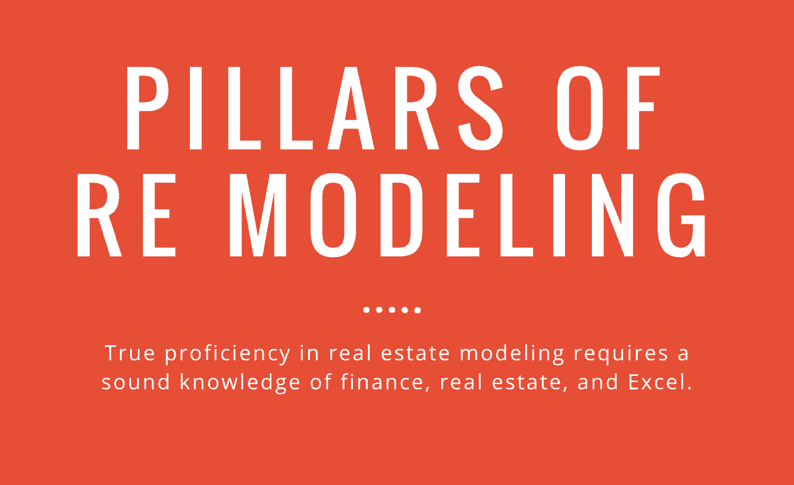 Learn to model real estate cash flows