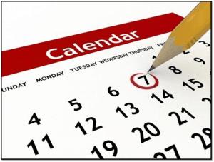 Monthly CF Calendar