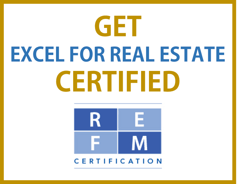 Excel for Real Estate Certification