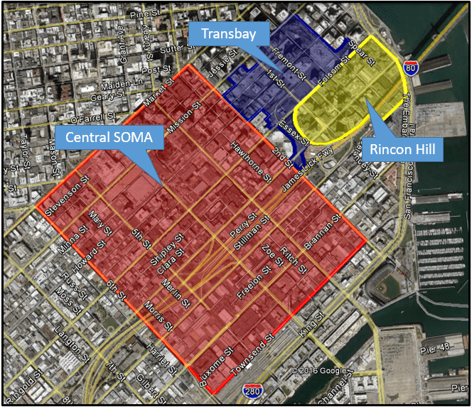 Major redevelopment area broadly referred to as SOMA