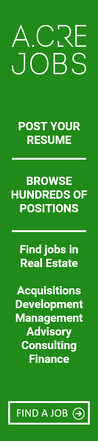 Post your resume, browse hundreds of positions, find jobs in real estate on the adventures in CRE job board, jobs in real estate acquisitions, development, asset management, portfolio management, investment advisory, consulting, and others.