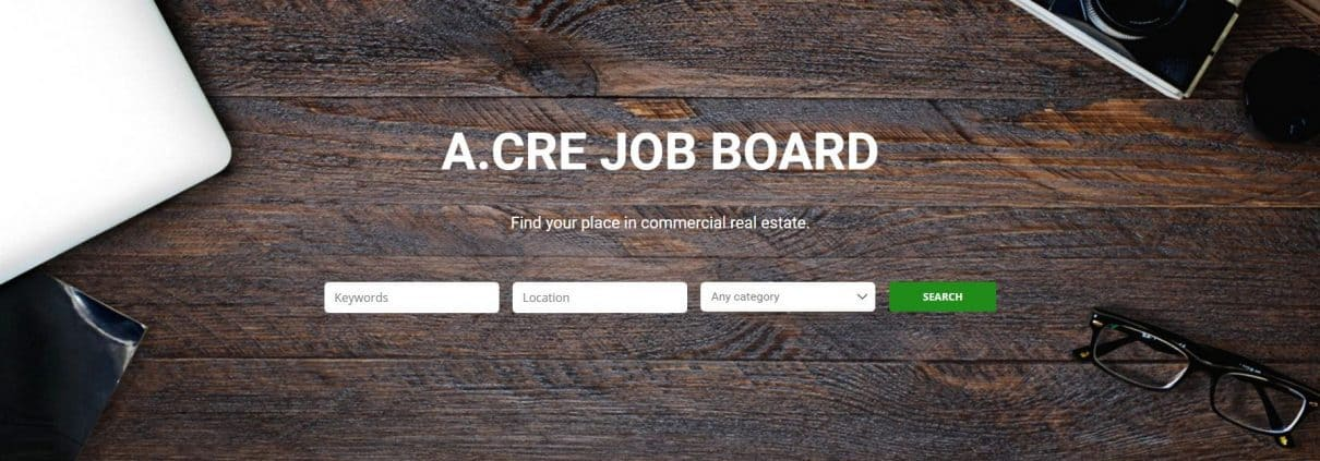a search engine for finding commercial real estate jobs