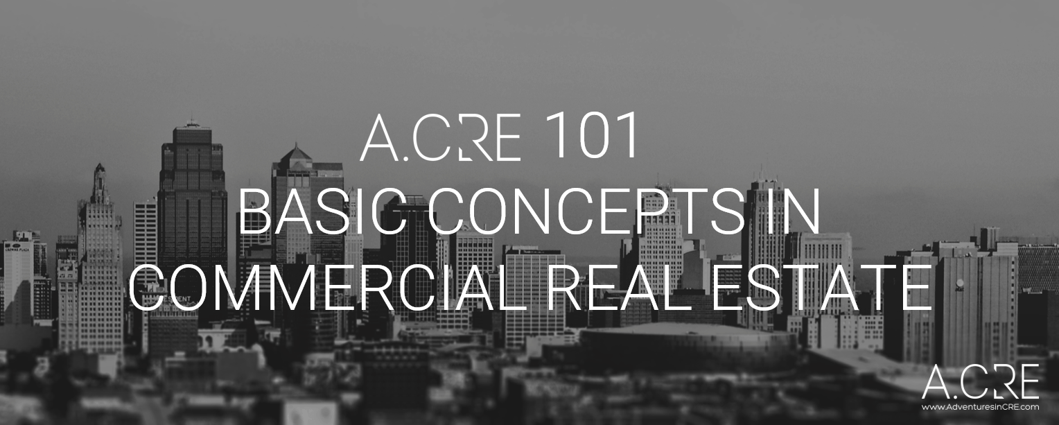 banner for the A.CRE 101 series for commercial real estate beginners looking to learn about financial analysis and modeling concepts