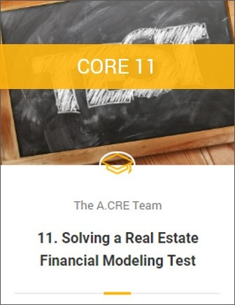 Real Estate Financial Modeling Training Program - A CRE