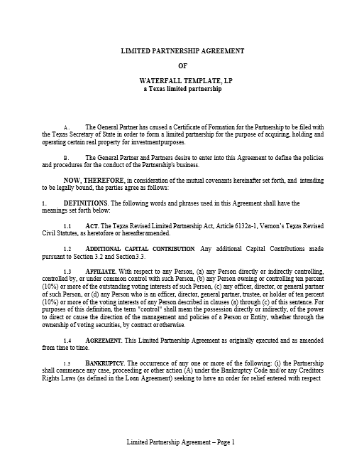 Real Estate Jv Partnership Agreement Template Adventures In Cre